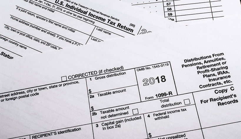 2018 Tax Forms Are In The Mail The Standard Individuals Families