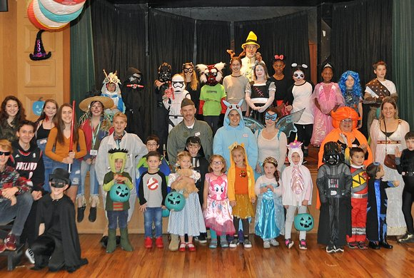 Photo of children dressed in costumes