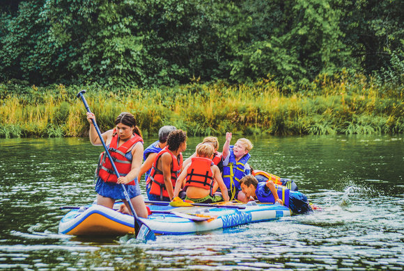 Photo of kids rafting