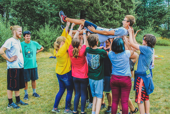 Photo of teenagers at camp