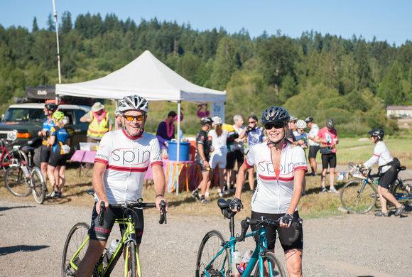 Cystic Fibrosis Foundation bikers