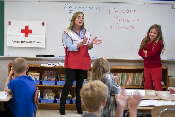 Photo of American Red Cross in the classroom