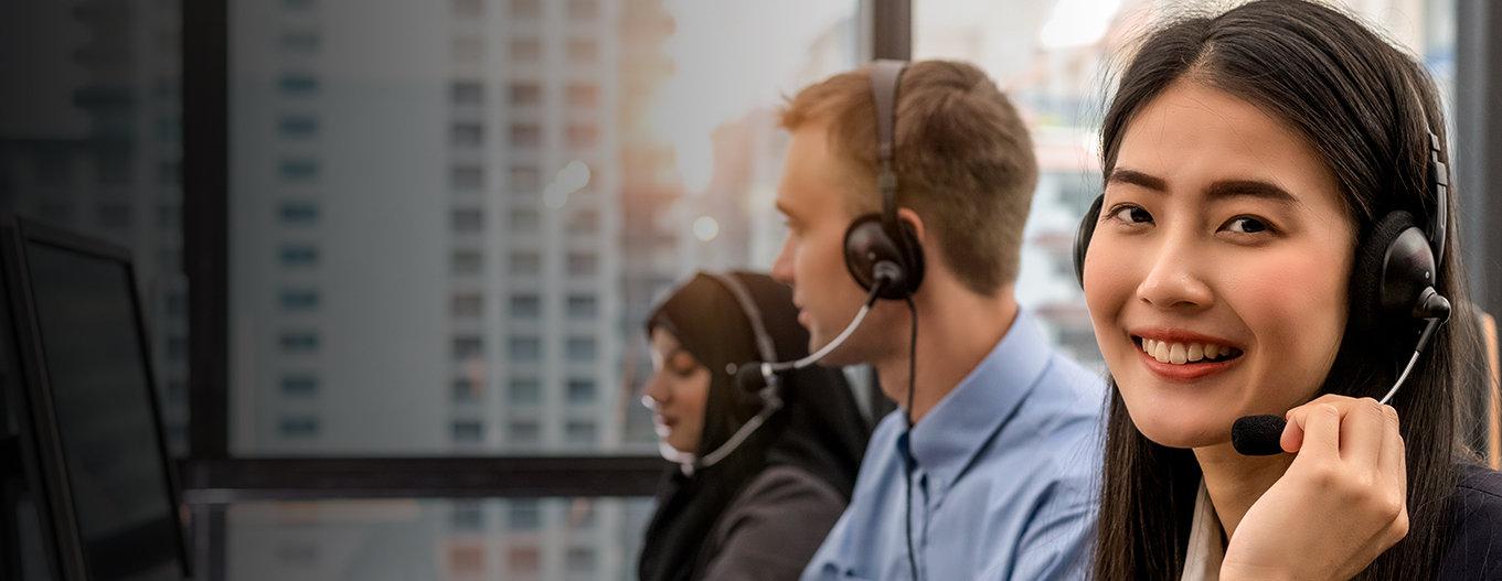 Photo of customer service representatives
