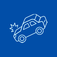 Icon of a car accident