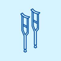 Icon of crutches