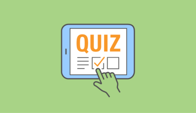 Illustration of a quiz on a photo